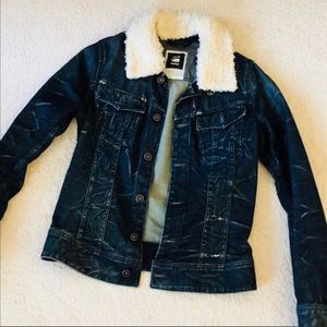 G Star Originals Raw Women Denim Shearling Size S